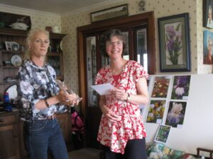 Wendy presents Beth with Cook Photographic Award